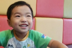 NJS (3 years old) has been in preschool for 2 years thanks to KKOOM's support