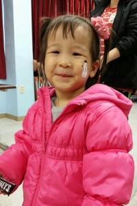 Suzy (age 2) has been in preschool this year and will receive another year of KKOOM support to go next year. The government will pay for her preschool the following year.