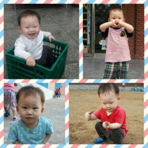 J.H., age 2, enjoys going to preschool.