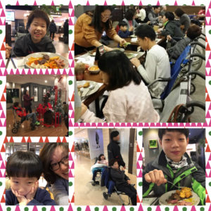 Lunch with Children from Aemangwon, an orphanage for special needs children in Daegu, South Korea